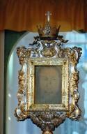 Il Volto Santo custodito ed esposto sull'altare del Santuario