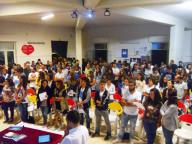 I tanti giovani pescaresi, intervenuti nella Chiesa della Visitazione