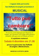 Il manifesto del musical a San Raffaele Arcangelo