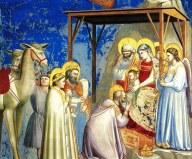 Una rappresentazione dell'incontro tra Gesù e i Magi