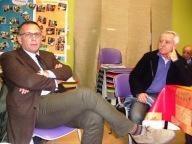 Il sindaco di Pescara, Marco Alessandrini, con il consigliere nazionale Aism Vittorio Morganti