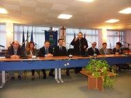 Monsignor Valentinetti ha parlato alla giunta, ai consiglieri e ai dipendenti comunali riuniti