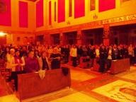Tanti i fedeli, giovani, famiglie e religiosi, che hanno gremito la chiesa dello Spirito Santo