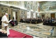 Papa Francesco riceve i delegati Fao nella Sala Clementina