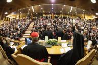 L'affollata conferenza stampa in Vaticano nella quale, stamani, è stata presentata l'enciclica