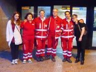 L'unità di strada Train de vie-Croce Rossa Spoltore in servizio in stazione