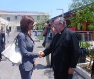 L'arcivescovo Valentinetti accoglie il presidente Boldrini