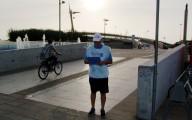 Una postazione di Pescarabici nei pressi del Ponte del mare