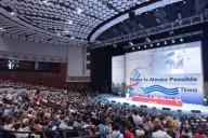 I 400 leader religiosi, culturali e politici intervenuti all'incontro internazionale di Tirana