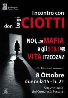 La locandina ufficiale dell'incontro con Don Ciotti