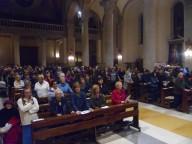I fedeli presenti ieri alla celebrazione eucaristica di ognissanrti