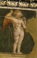 Piero della Francesca, Cupido bendato (Basilica di San Francesco Arezzo, 1452-1466)
