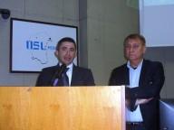Silvio Paolucci, assessore regionale alla Sanità con il direttore generale uscente della Asl, Claudio D'Amario