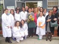 L'equipe dell'Istituto tessuti con, al centro, la direttrice Tiziana Bonfrini