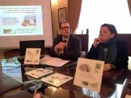 Gaetano Ciglia, ideatore QR Code, e Lucia Arbace, direttrice del Polo museale d'Abruzzo