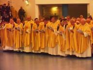 Una parte deigli oltre cento sacerdoti concelebranti