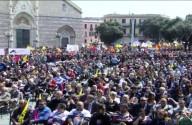 I 30 mila giovani manifestanti riuniti oggi a Messina