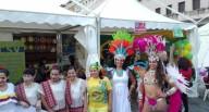 Alcune rappresentanti brasiliane, insieme alle colleghe filippine