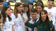 """Rosangela Trotta, insieme ai giovani di Sant'Antonio, intervistata da Lorena Bianchetti in """"A sua immagine"""""""
