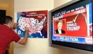 La conta dei voti vincenti nel comitato elettorale di Donald Trump