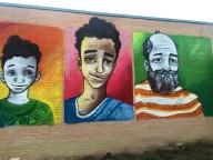 Un murales realizzato nel parco