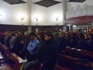 I fedeli presenti ieri nella chiesa di Sant'Andrea