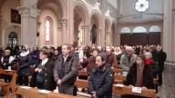 I fedeli presenti nel Santuario della Divina misericordia