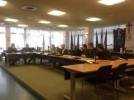 La seduta della Commissione urbanistica alla presenza dell'arcivescovo Valentinetti